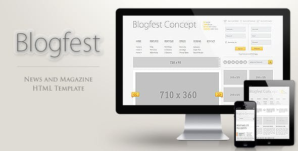 Blogfest - Blog, News and Magazine HTML template by readactor