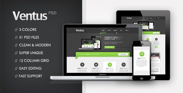 Ventus | Multi Purpose PSD Template
