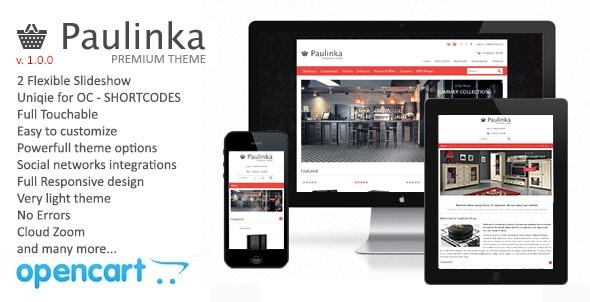 Paulinka Responsive OpenCart Theme - OpenCart eCommerce