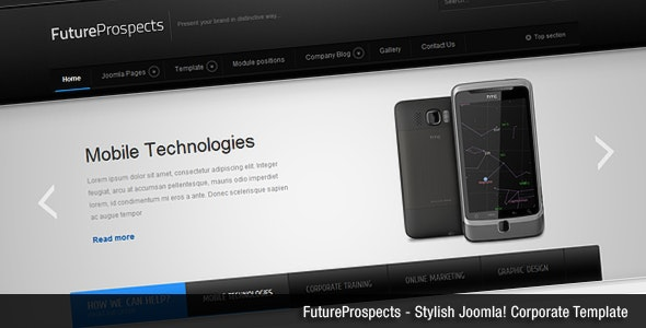 FutureProspects Stylish Corporate Joomla Template - Corporate Joomla