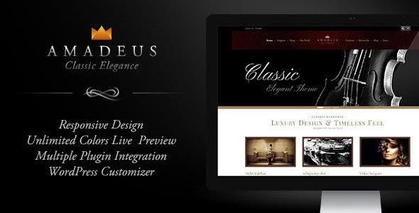 AMADEUS, Classic & Elegant WP Theme - Business Corporate