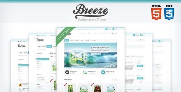 Breeze — HTML5 & CSS3 store template - Health & Beauty Retail