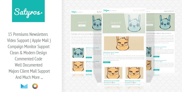 Satyros - Clean E-mail Newsletter - Email Templates Marketing