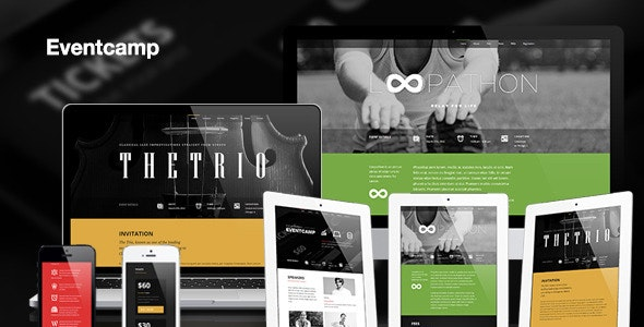 Eventcamp - Responsive One Page Marketing Template - Creative Landing Pages