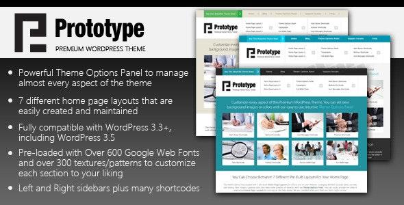 Prototype - Premium WordPress Theme - Corporate WordPress