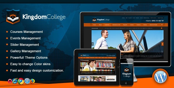 Kingdom College - Educational Wordpress Theme - Business Corporate