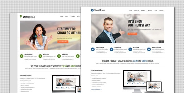 SmartGroup - Clean Marketing WordPress Theme - Marketing Corporate