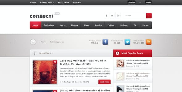 Connect - Premium PSD Magazine Template