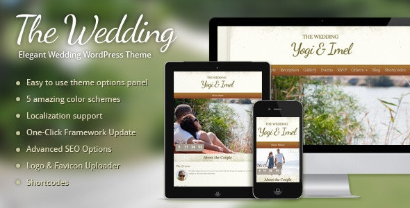 The Wedding - Elegant Wedding WordPress Theme - Wedding WordPress