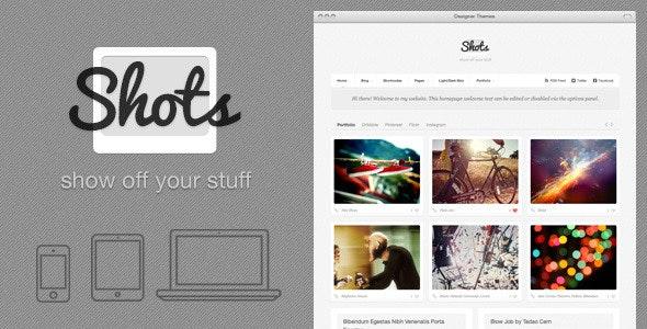 Shots, a Photo/Folio Theme to Show Off Your Stuff - Portfolio Creative