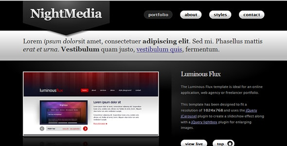 Night Media - Creative Site Templates