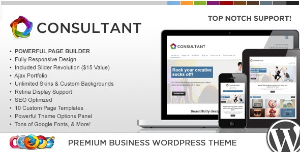 WP Consultant — Responsive Multipurpose Theme - Corporate WordPress