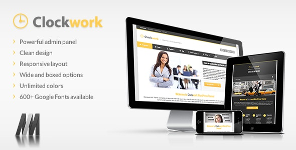 Clockwork WP - Responsive Business Theme - Business Corporate