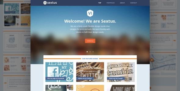 Sextus Site Template - Portfolio Creative