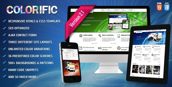Colorific - Responsive HTML5 Template - Business Corporate