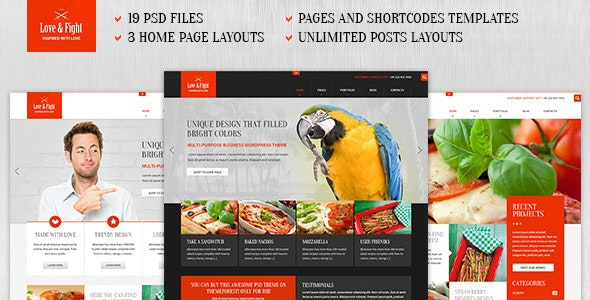 Love&Fight - Business PSD Theme - Business Corporate