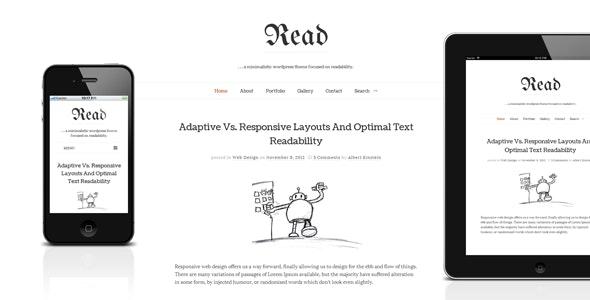 Read - Responsive Minimalist Template - Creative Site Templates