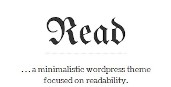 Read - Responsive Minimalist Template