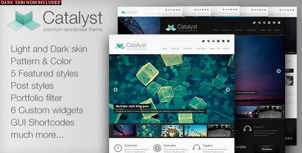 Catalyst Wordpress Portfolio Theme - Portfolio Creative