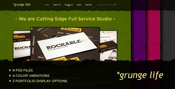 Grunge Life - An Exclusive PSD Theme - Creative PSD Templates