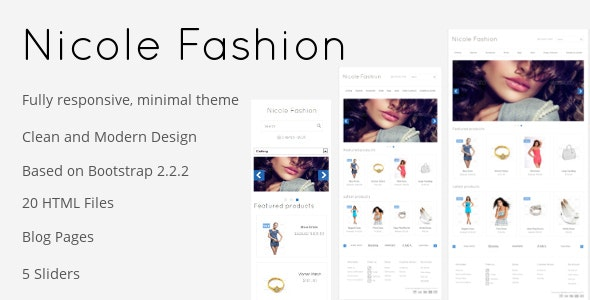 Nicole Fashion Bootstrap 3 eCommerce Template - Fashion Retail