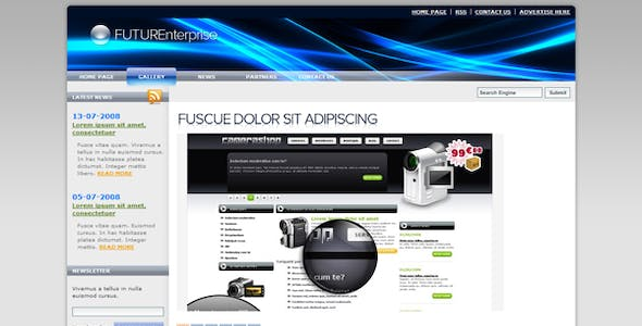 Glide Website Templates from ThemeForest