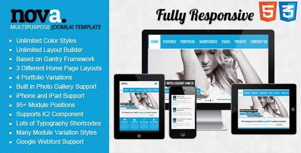 Nova - Multipurpose Responsive Joomla! Template