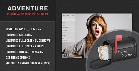 Adventure - A Unique Photography WordPress Theme - Photography Creative