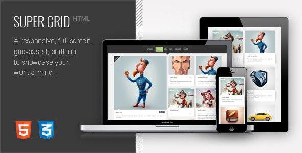 SUPER GRID | Grid Based HTML Portfolio - Creative Site Templates