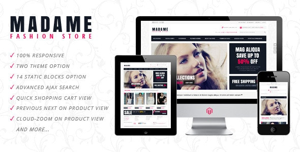 Madame - Responsive Fashion Store Magento Theme - Fashion Magento