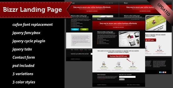 Bizzr Landing Page - Corporate Landing Pages