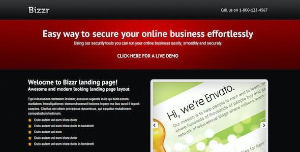 Bizzr Landing Page