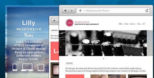 Lilly Responsive Theme - Creative Site Templates