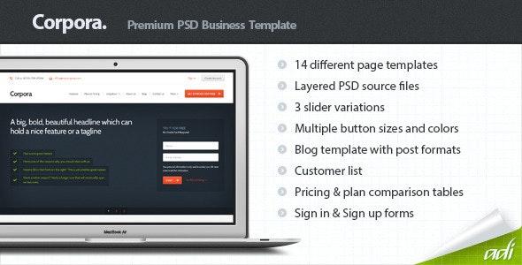 Corpora - Premium Business PSD Template - Corporate Photoshop