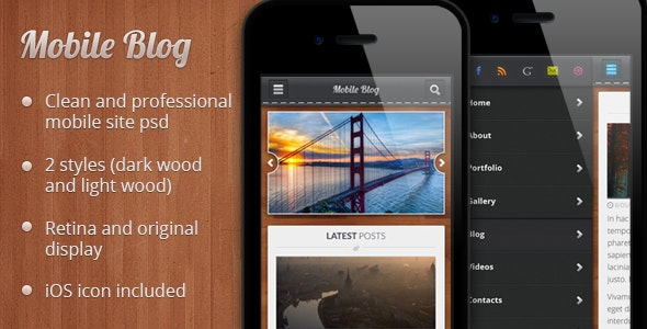Mobile Blog PSD - Creative Photoshop