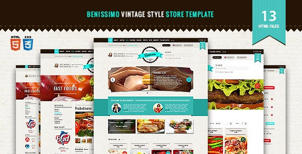 Benissimo — HTML5 & CSS3 store template - Food Retail