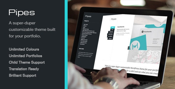 Pipes, a Super-duper Customizable WordPress Theme  - Portfolio Creative
