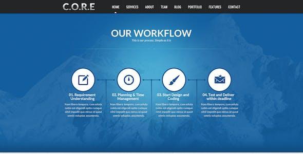CORE - Multipurpose SinglePage PSD Template