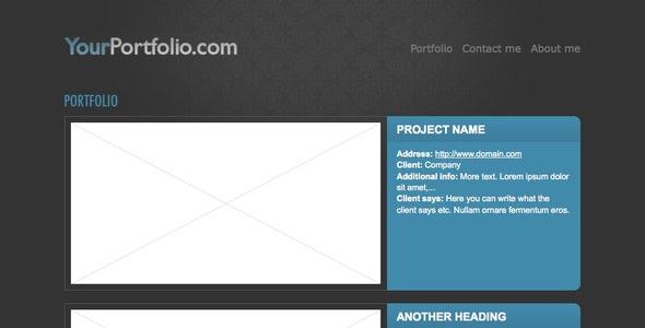Simple portfolio theme - Portfolio Creative