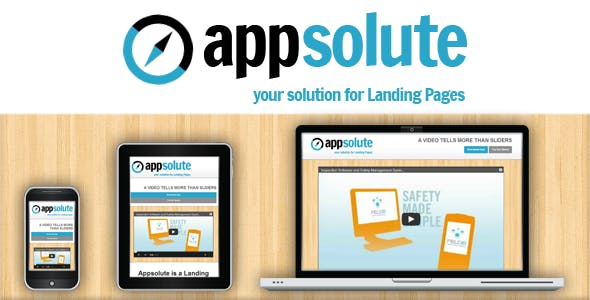 Appsolute - Responsive Landing Page