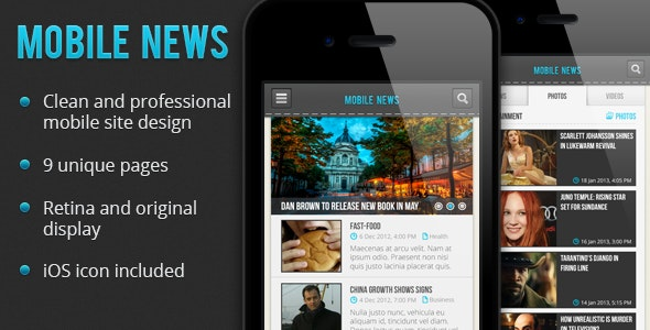 Mobile News PSD - Creative Photoshop