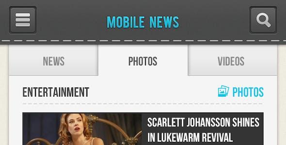 Mobile News PSD