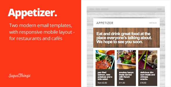 Appetizer -  responsive html email template - Email Templates Marketing