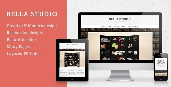 Bella Studio - Responsive Portfolio and Business  - Portfolio Creative