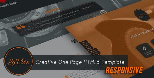 LaVita - Creative One Page HTML5 Template - Creative Site Templates