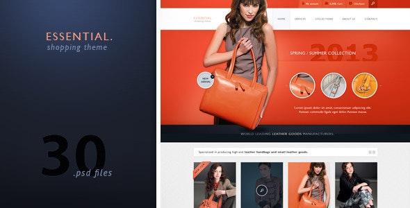 Essential - Modern Store / Shopping Design - Retail Photoshop