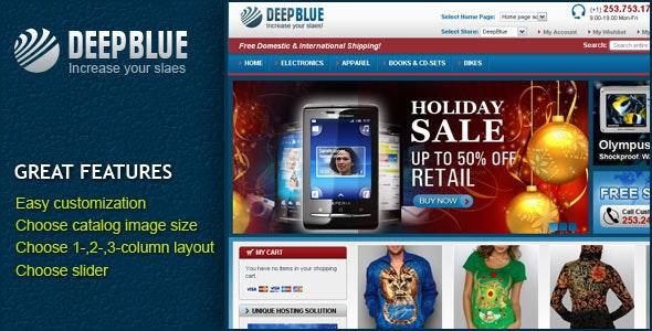 DeepBlue Magento theme - Shopping Magento