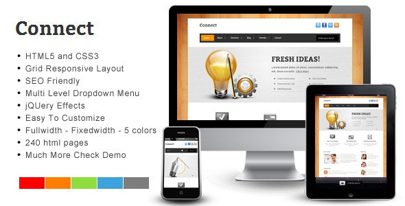 Connect – Responsive HTML Template - Corporate Site Templates