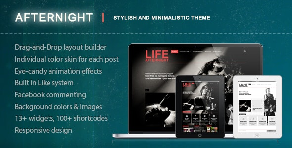 Afternight - A Stylish Minimalist Responsive Theme - Blog / Magazine WordPress