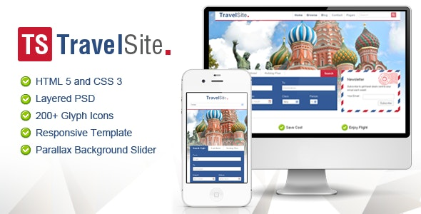 TravelSite - Responsive HTML Template - Travel Retail
